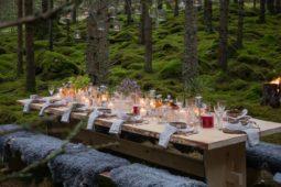 Un ristorante gourmet in natura